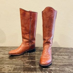 Old West Cavalry Style Cowboy Boots